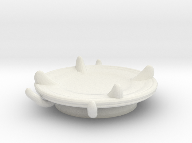 Imp's saucer (set 2 of 2) in White Natural Versatile Plastic
