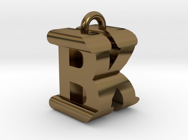 3D-Initial-BK in Polished Bronze