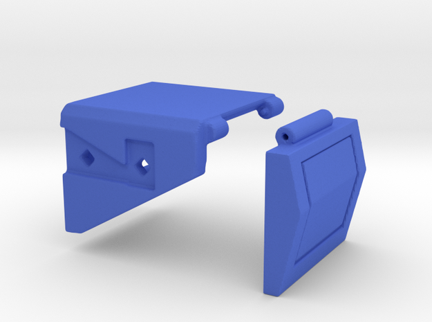 CW to G1 Magnus Crotch Assembly Part 1 of 2, Left in Blue Processed Versatile Plastic