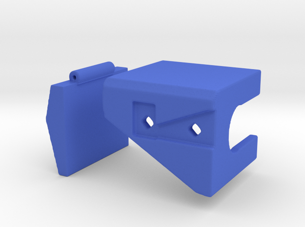 CW to G1 Magnus Crotch Assembly Part 2 of 2, Right in Blue Processed Versatile Plastic