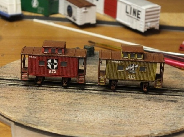 Bobber Caboose - Zscale in Smooth Fine Detail Plastic