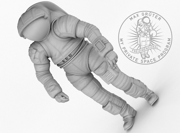 Mark III Mars Experimental Spacesuit  1:12 / 1:16 in White Strong & Flexible: 1:12
