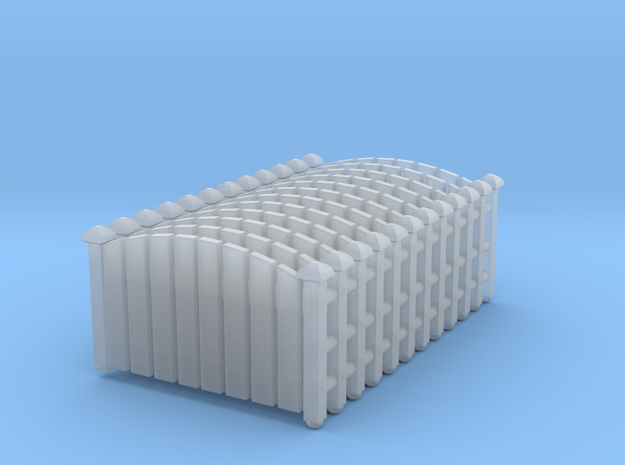 Fence 02. Z Scale (1:220) in Smooth Fine Detail Plastic