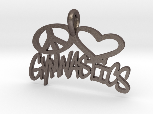 34- PL-GYMNASTICS- ( FOR STEEL)  in Polished Bronzed Silver Steel: Extra Small