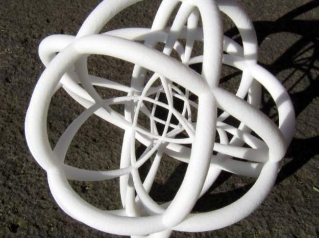Rectified Tesseract in White Natural Versatile Plastic