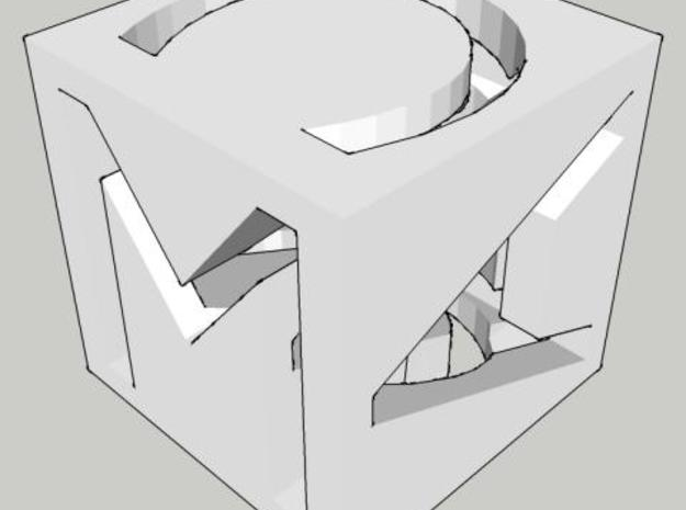 MAC cube 3d printed SketchUp preview