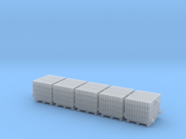 Euro Pallet with Concrete Blocks in Smooth Fine Detail Plastic