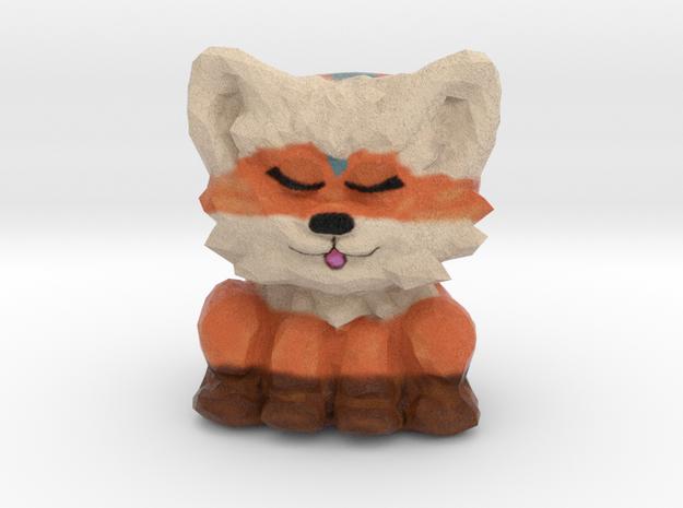 Foxy-Greggy Figurine in Full Color Sandstone
