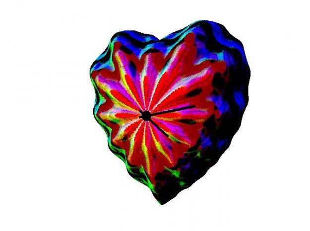 Flower-Heart Clock 3d printed