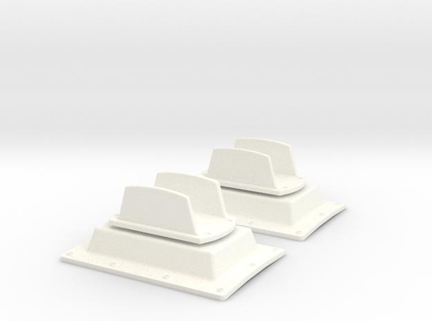 1.5 ANTENNE PLATE DOUBLE SUPER PUMA X2 in White Processed Versatile Plastic