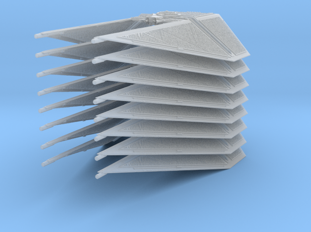 1/144 TIE Interceptor Wing Set of 8 in Smooth Fine Detail Plastic