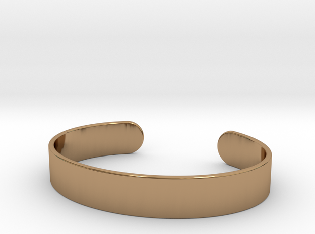 Cuff Bracelet – Wide in Polished Brass