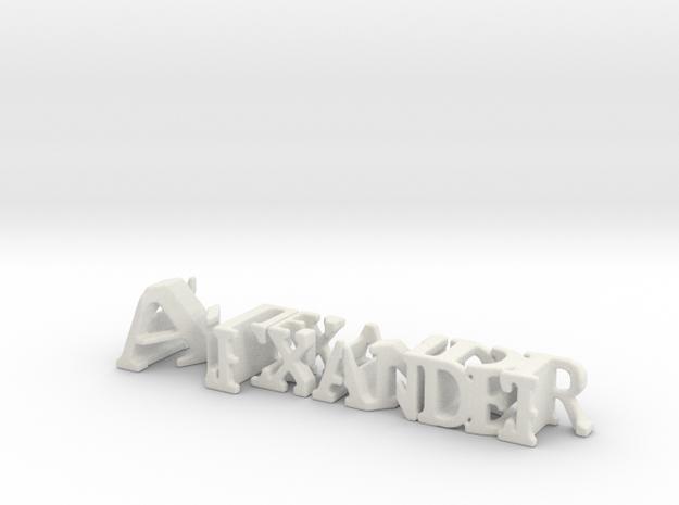 3dWordFlip: Alexander/Meindl in White Natural Versatile Plastic