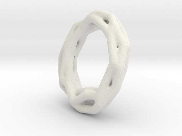 Twig Bracelet in White Natural Versatile Plastic