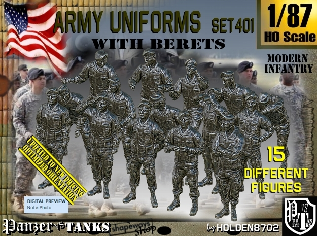 1/87 Modern Uniforms Berets Set401