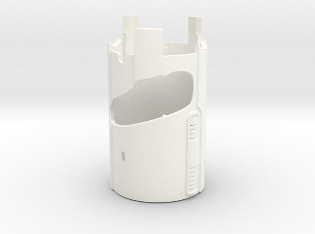 KRCNC2 Lightsaber Emiter Sleve in White Processed Versatile Plastic