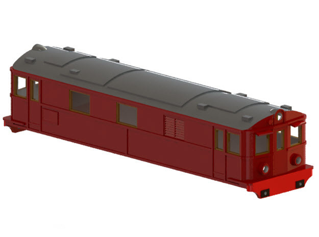 Swedish SJ electric locomotive type Pb - N-scale in Frosted Ultra Detail