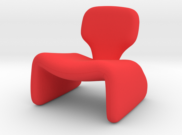 Oliver Mourgue Djinn Chair in Red Processed Versatile Plastic