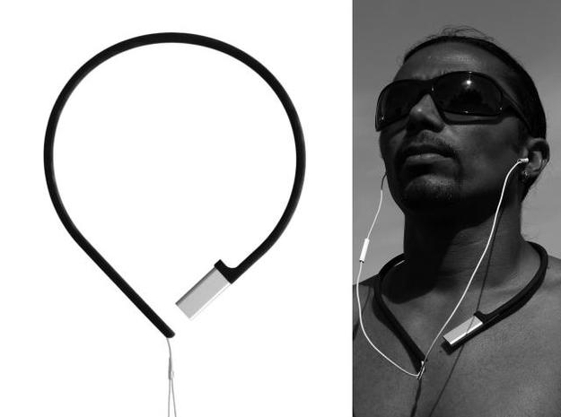 Pod à porter - neckband for iPod shuffle 3 in White Strong & Flexible