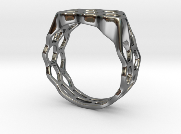 Double Hex Ring, Tapered, Size 8