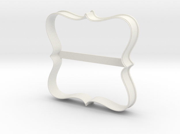 Plate 23 cookie cutter for professional in White Strong & Flexible