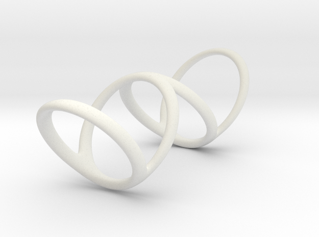 Ring for Bob L1 1 1-4 L2 1 3-4 D1 8 D2 9 3-4 D3 10 in White Natural Versatile Plastic
