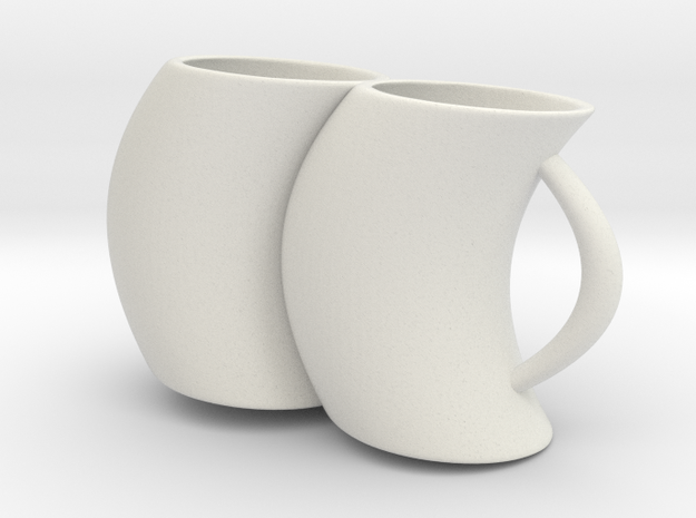 2joinCup A in White Natural Versatile Plastic: Medium