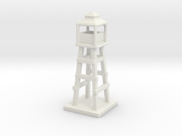1/285 Watch Tower/Labor Camp Game Pieces in White Natural Versatile Plastic