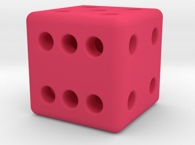 12mm designer dice  in Pink Processed Versatile Plastic