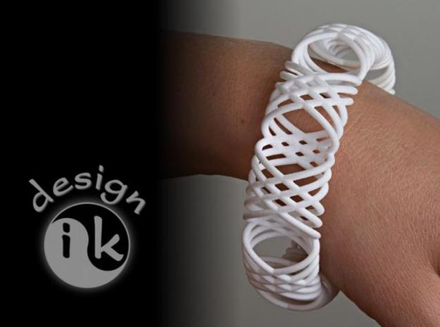 bracelet spirals 1 in Polished Metallic Plastic