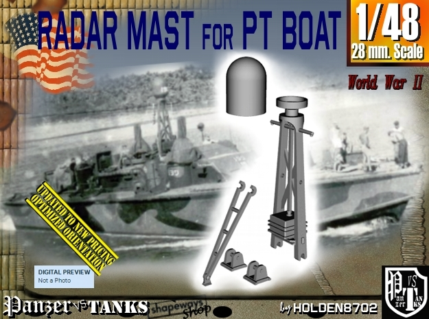 1/48 PT boat SO-A Radar Mast 001 in Frosted Ultra Detail