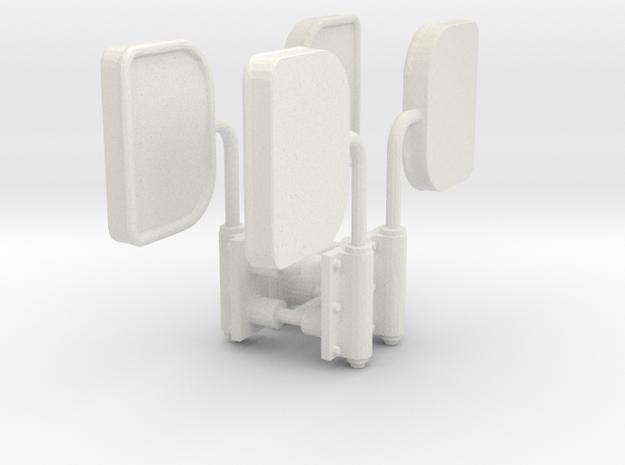 DH Wadloper spiegels scale 1:45 in White Natural Versatile Plastic