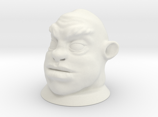 Ogre Head, Board Game Piece in White Strong & Flexible