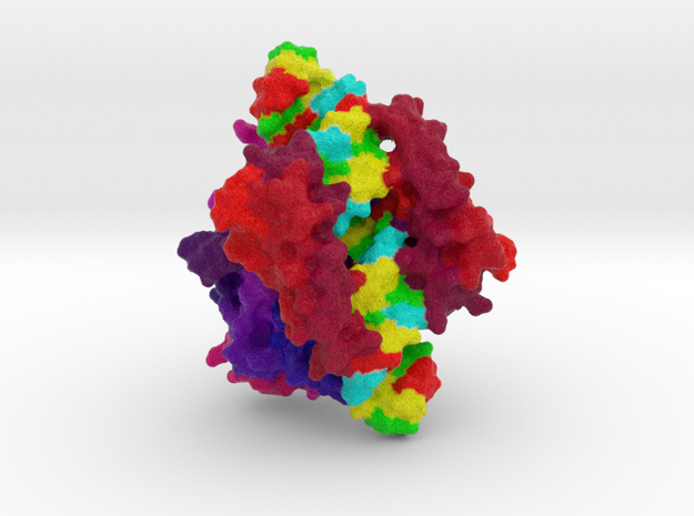 RNase III complexed with dsRNA in Full Color Sandstone