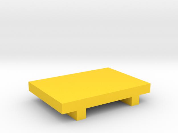 Miniature Sushi Plate in Yellow Processed Versatile Plastic