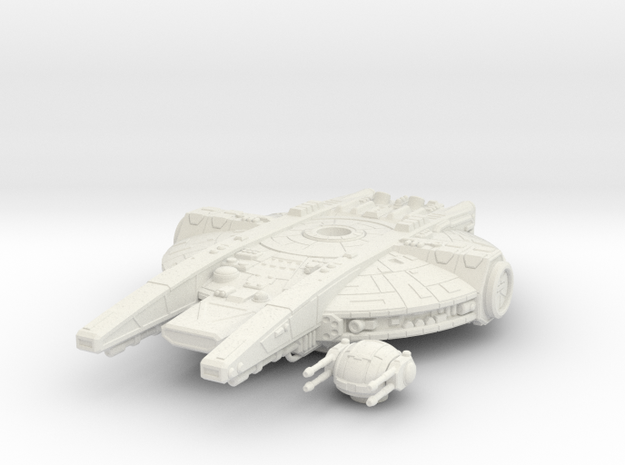 YT-2350 Military Transport, Flying in White Natural Versatile Plastic