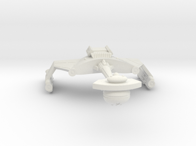 3788 Scale Klingon D6SK Refitted Heavy Scout WEM in White Natural Versatile Plastic