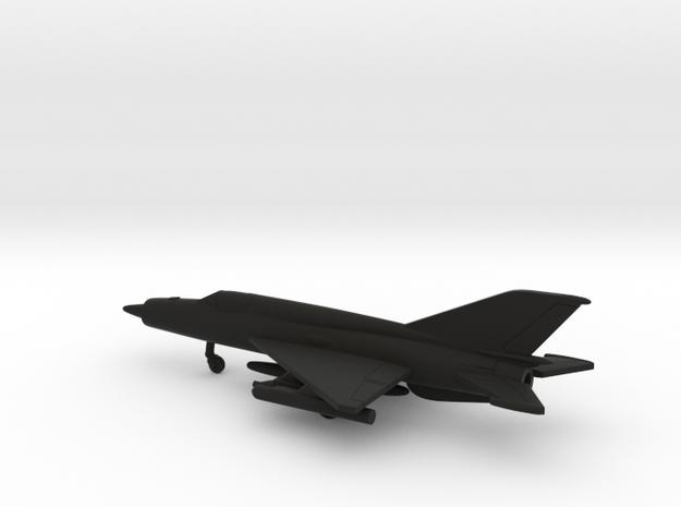 MiG-21bis Fishbed-L in Black Natural Versatile Plastic: 1:200