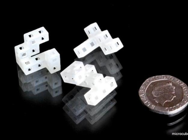 Three Tiny Pieces 3d printed Cube pieces