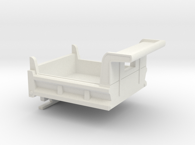 1/32  Dump Bed in White Natural Versatile Plastic
