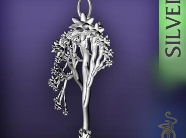 'Blossom tree' a fractal pendant 6cm  3d printed 2