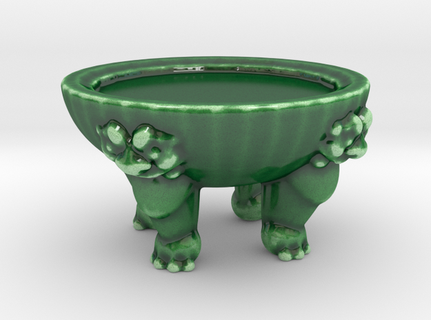 Clawfoot Vase Stand in Gloss Oribe Green Porcelain