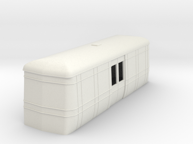On16.5 Freelance AW luggage trailer body  in White Natural Versatile Plastic
