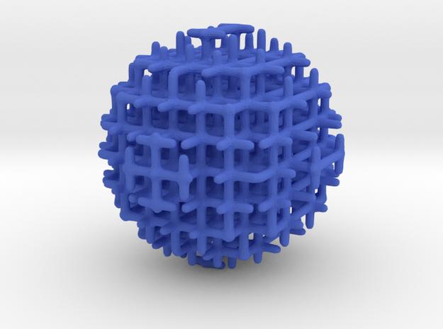 sphere_m in Blue Processed Versatile Plastic