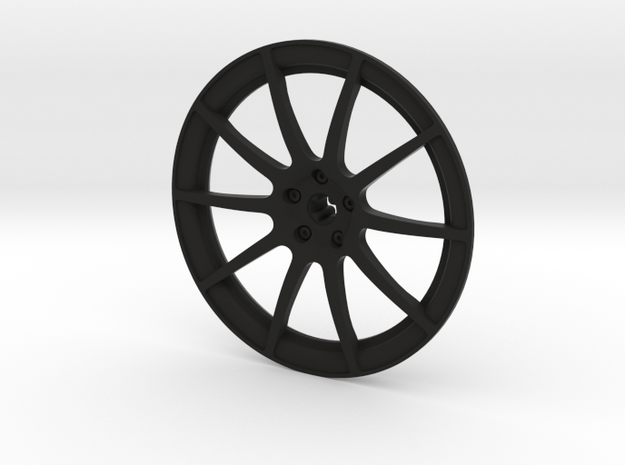 Racing Wheel Cover 12_56mm in Black Natural Versatile Plastic