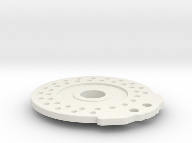 Disc Brake for 56mm Wheel_Disc in White Natural Versatile Plastic