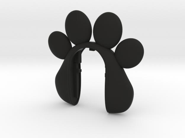 BIG PAW KEY FOB #67  in Black Natural Versatile Plastic