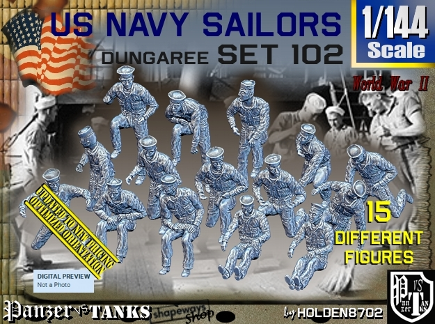 1/144 USN Dungaree Set 102 in Frosted Ultra Detail