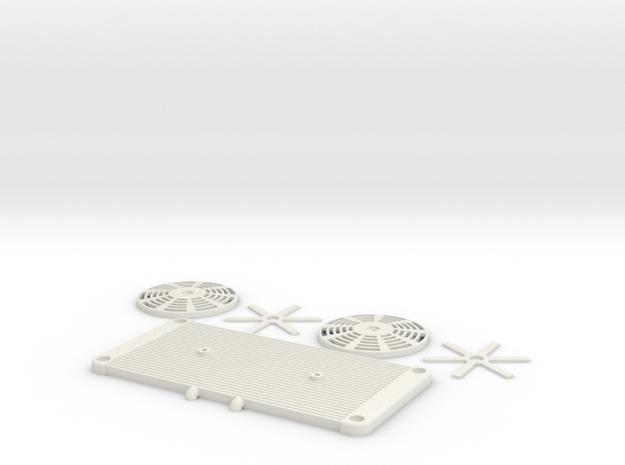 GOM - Radiator Set (Hollow) in White Natural Versatile Plastic