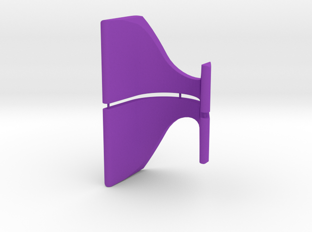 Display Stand - Racing Stick Pack v2 in Purple Processed Versatile Plastic